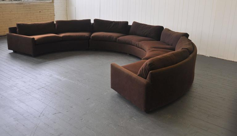 Milo Baughman Curved Sectional Sofa. There Are Three Sections. One Section  Has Three