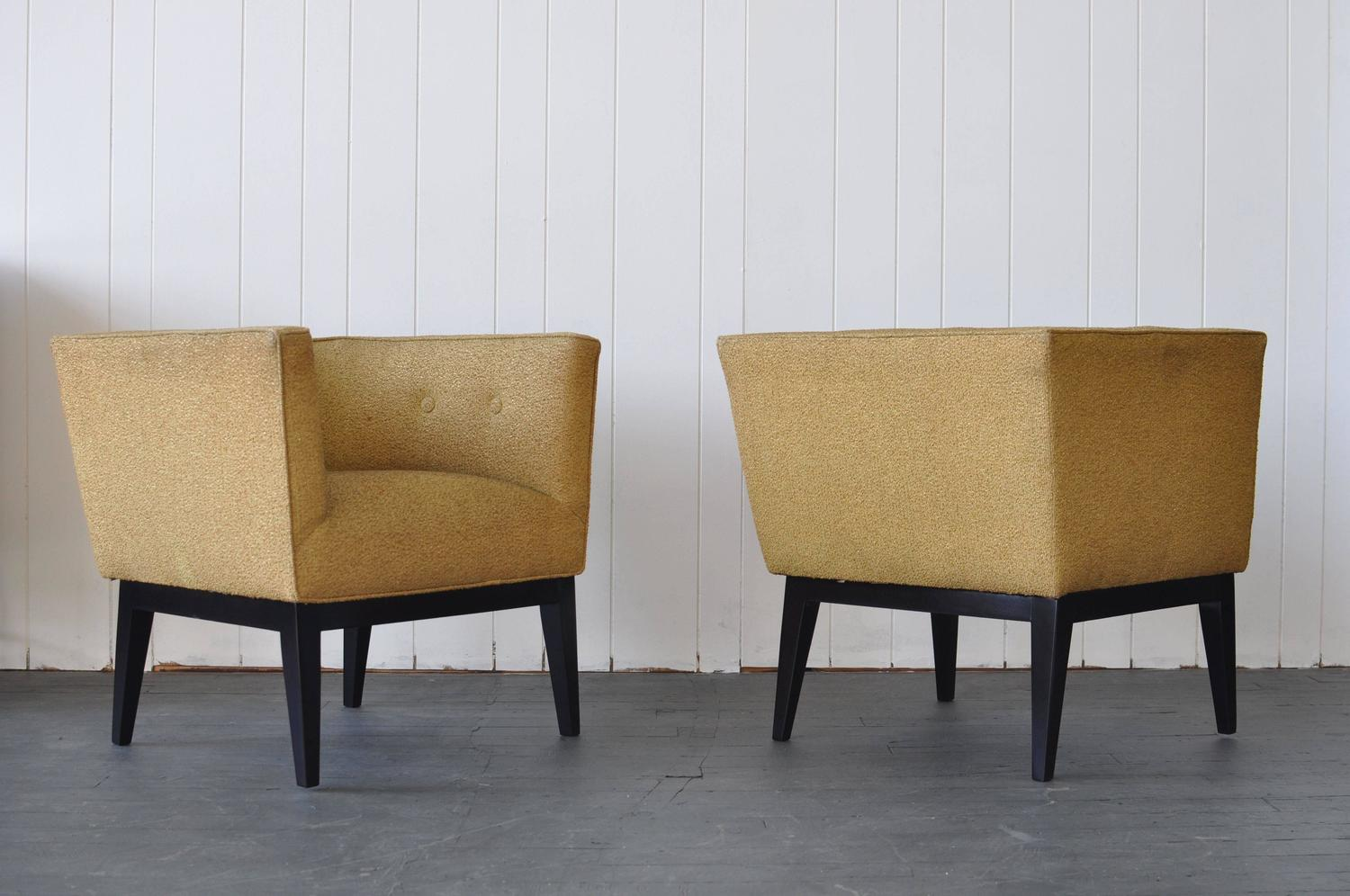 Pair of 1950s Cube Chairs For Sale at 1stdibs