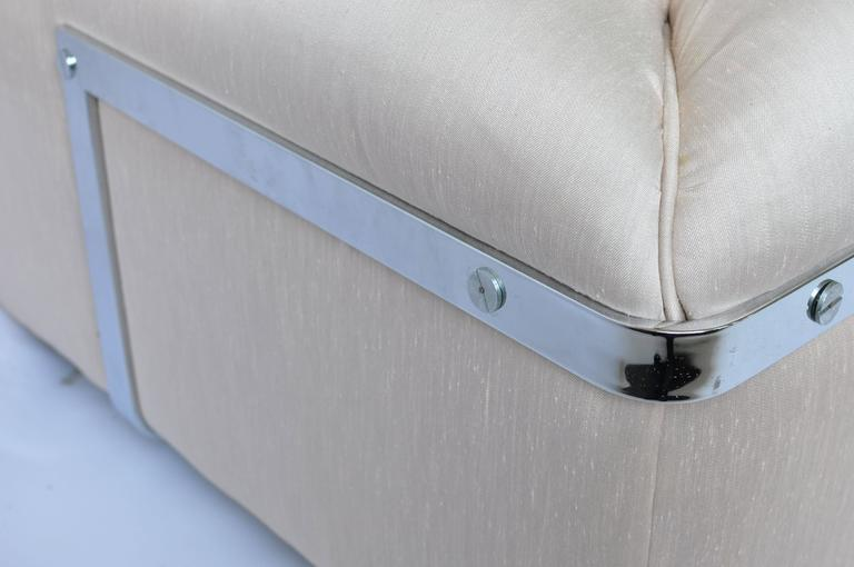 American 1970s Chrome Frame Sofa For Sale