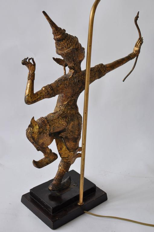 20th Century Collection of Vintage Thai Figure Lamps For Sale