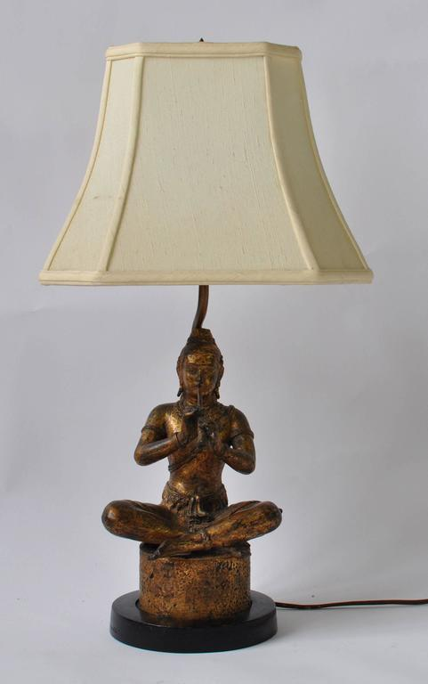 Collection of Vintage Thai Figure Lamps For Sale 2