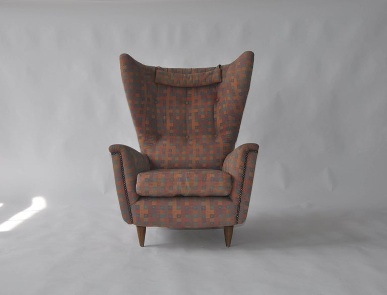 1950s wingback chair purchased in Denmark.