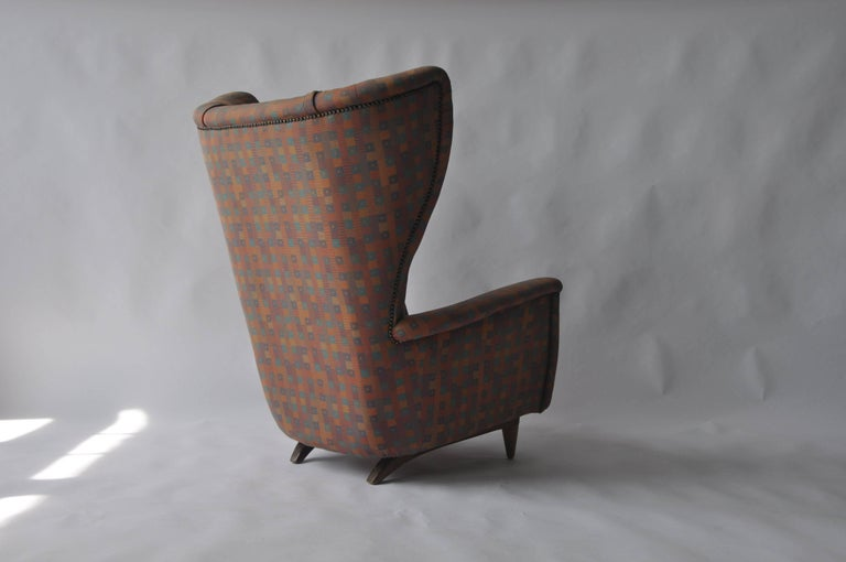 Danish 1950s Wingback Chair For Sale