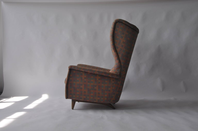 1950s Wingback Chair In Good Condition For Sale In Pelham, MA