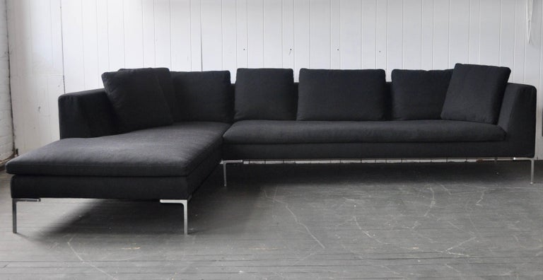 b and b italia charles sofa by antonio citterio for sale at 1stdibs. Black Bedroom Furniture Sets. Home Design Ideas
