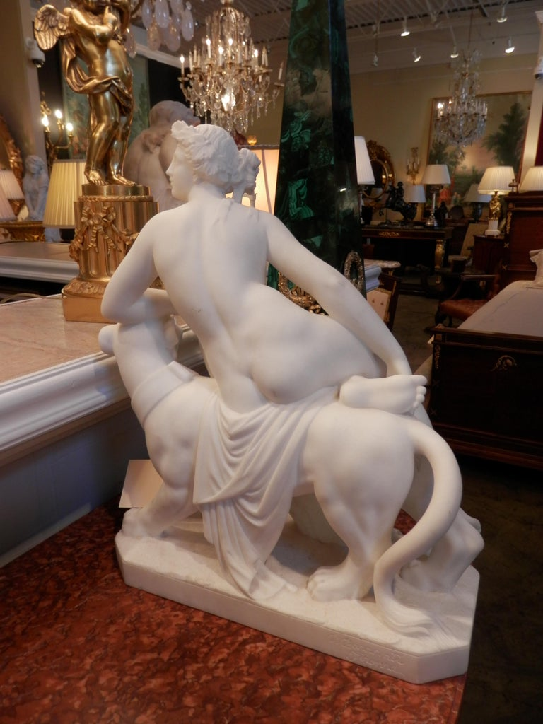 Classical Greek 19th Century Italian Carrera Sculpture After Johann Heinrich von Dannecker For Sale