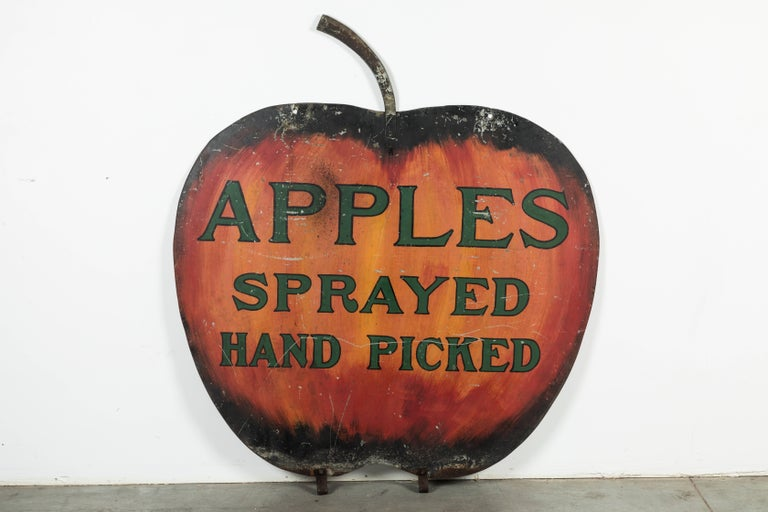 Iron Apple Orchard Folk Art Trade Sign For Sale 2