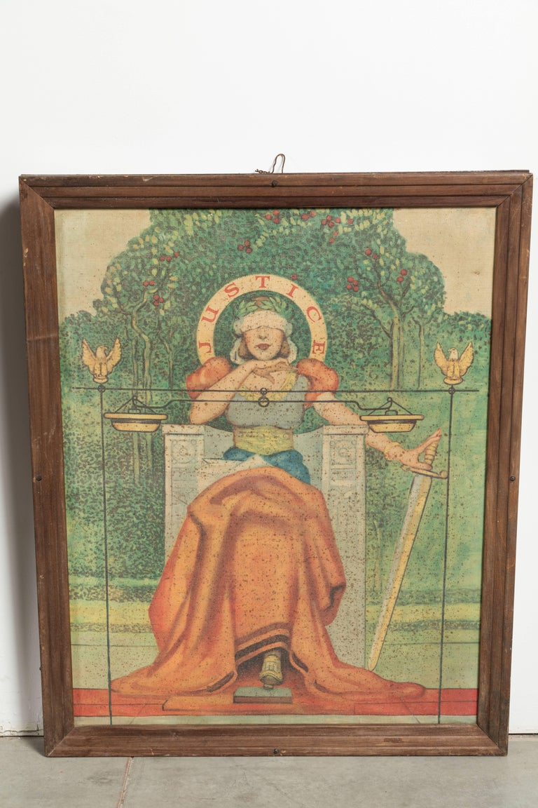 Early 20th Century Liberty Truth Equality Justice Midwestern Courthouse Signs For Sale 4