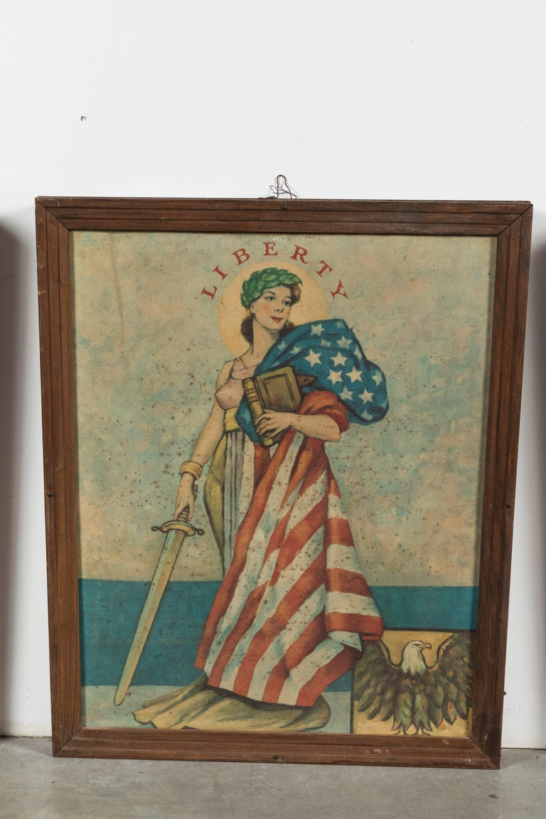Metal Early 20th Century Liberty Truth Equality Justice Midwestern Courthouse Signs For Sale