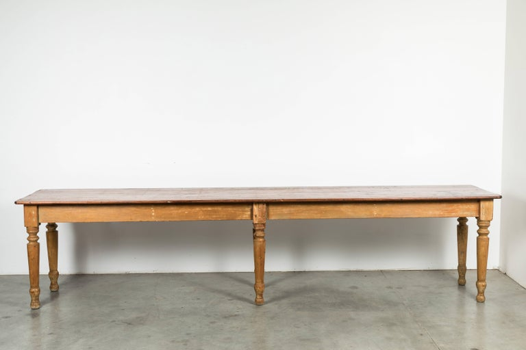Late 19th Century American General Store or Harvest Table For Sale 4