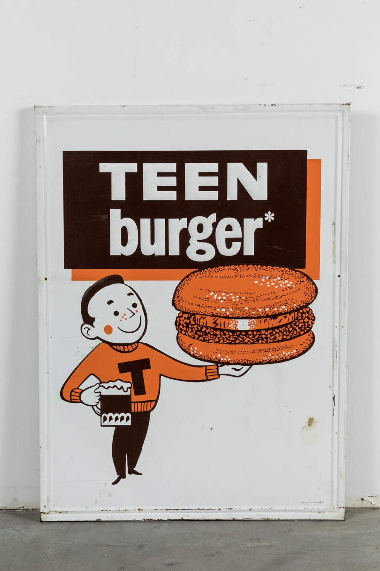 In 1963, A&W introduce four choices of hamburgers and their corresponding burger family members. Papa Burger, Mama Burger, Teen Burger and Baby Burger. Each burger wrapper had a wrapper featuring a cartoon image of the corresponding character.