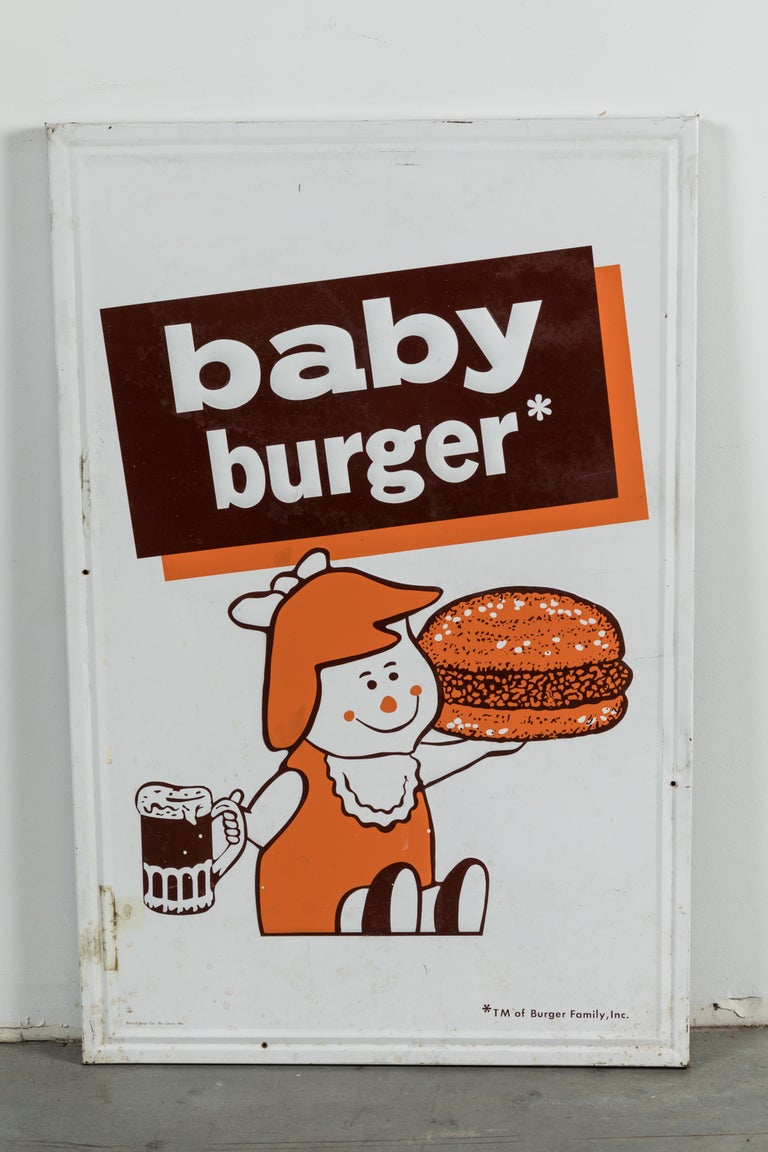 Mid-20th Century Collection of Three A&W Drive-In Rootbeer Burger Signs For Sale