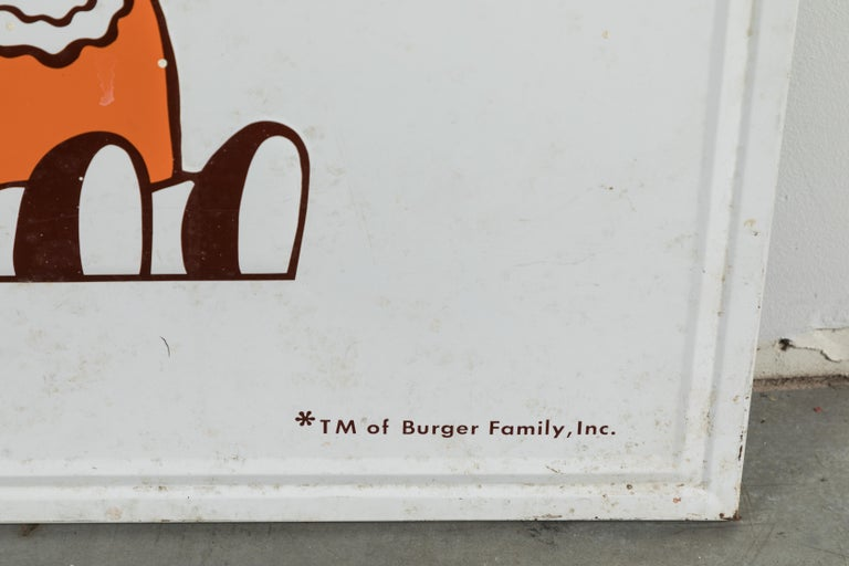 Sheet Metal Collection of Three A&W Drive-In Rootbeer Burger Signs For Sale