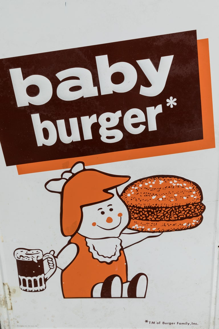Collection of Three A&W Drive-In Rootbeer Burger Signs For Sale 2
