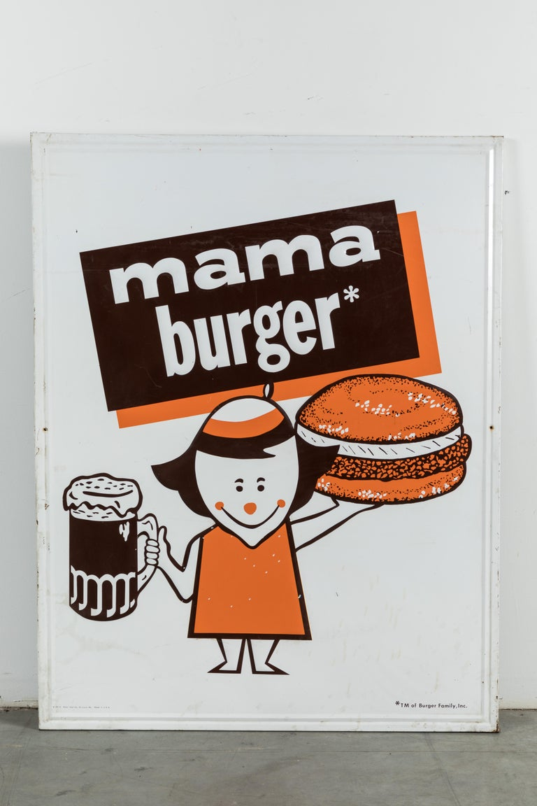 Collection of Three A&W Drive-In Rootbeer Burger Signs For Sale 4