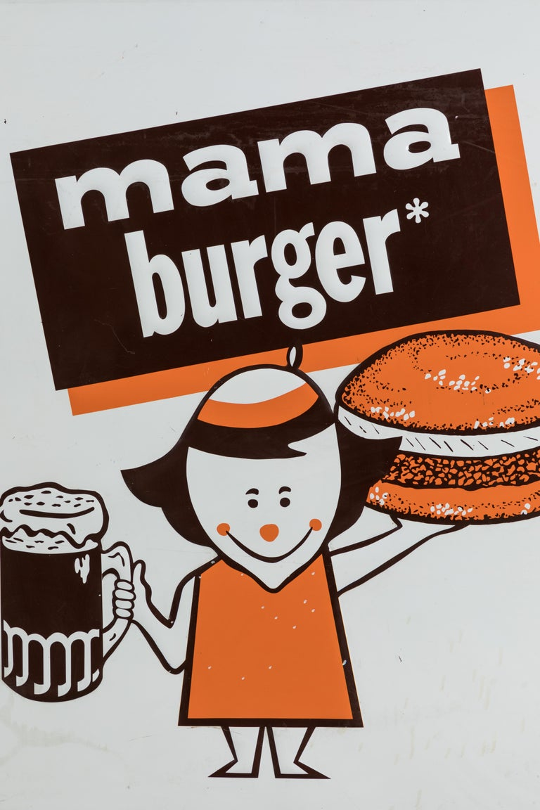 Collection of Three A&W Drive-In Rootbeer Burger Signs For Sale 5