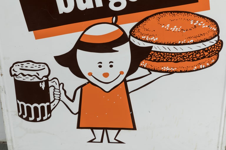 Collection of Three A&W Drive-In Rootbeer Burger Signs For Sale 8