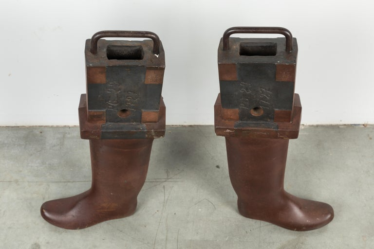 20th Century Heavy Iron Industrial Work Boots Factory Molds For Sale