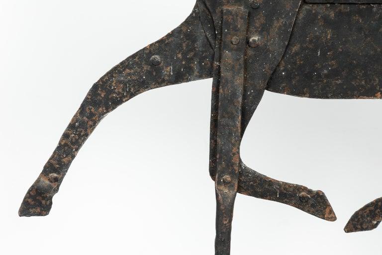 19th Century American Folk Art Iron Horse Weathervane In Good Condition For Sale In Santa Monica, CA