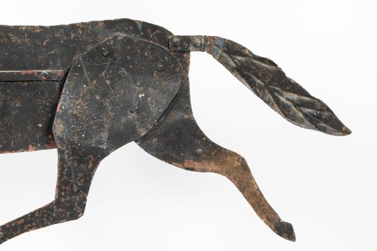 19th Century American Folk Art Iron Horse Weathervane For Sale 2