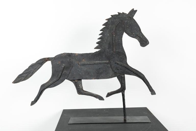 19th Century American Folk Art Iron Horse Weathervane For Sale 4