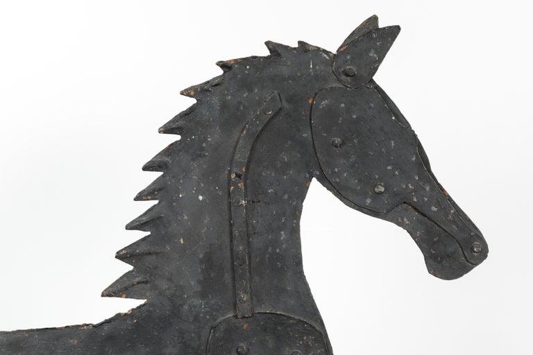19th Century American Folk Art Iron Horse Weathervane For Sale 6