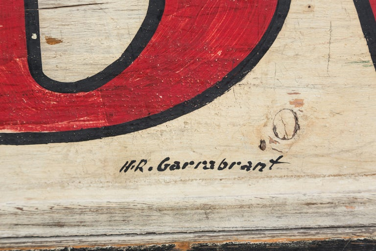 Hand-Painted Vintage General Store Hardware Sign For Sale