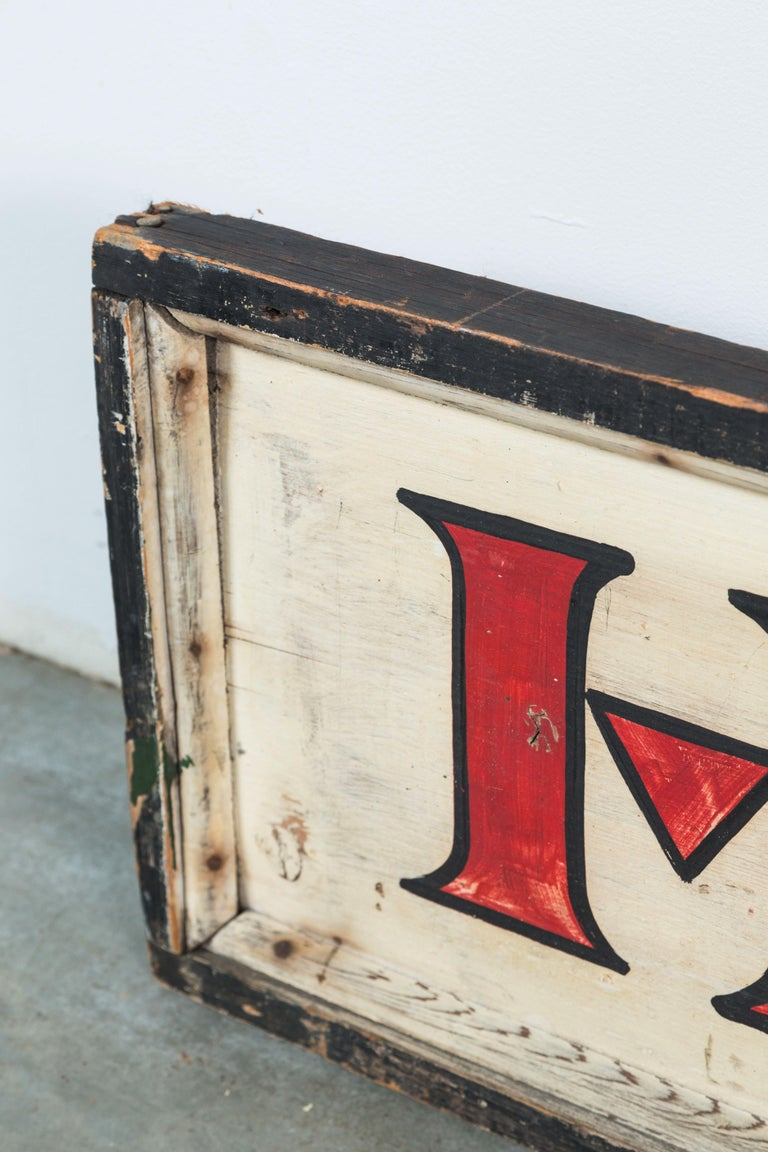 Vintage General Store Hardware Sign In Good Condition For Sale In Santa Monica, CA