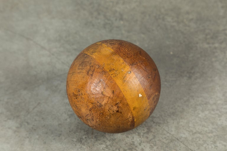 Wood Lawn Bowling Game Original Caddy and Bowling Balls, circa 1900 For Sale 2
