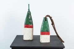 Pair of Red and Green Nautical Buoys
