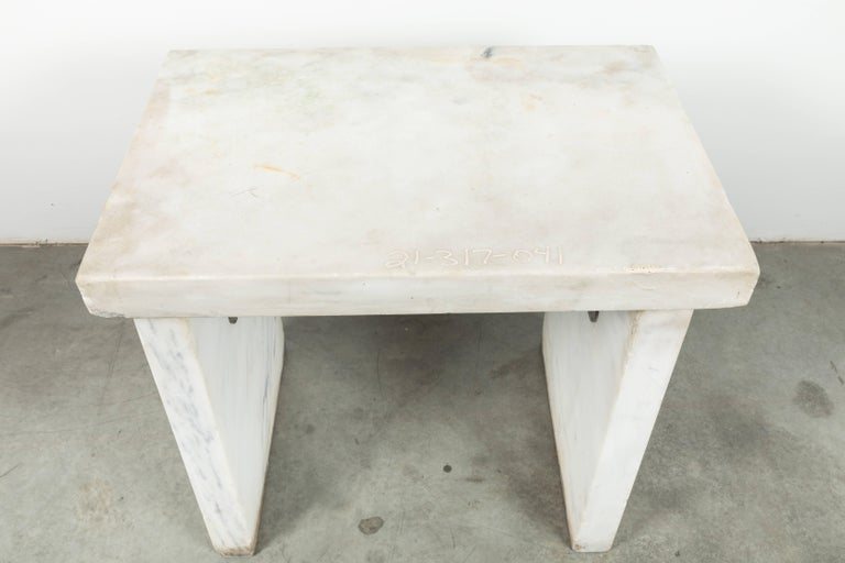 Mid-20th Century Industrial Marble Slab Candy Maker, Bakery or Lab Work Table For Sale