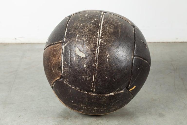 Folk Art Vintage Leather Medicine Ball For Sale