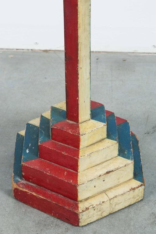 Early 20th Century Masonic Arm & Hammer Square & Compass Folk Art Sign 7
