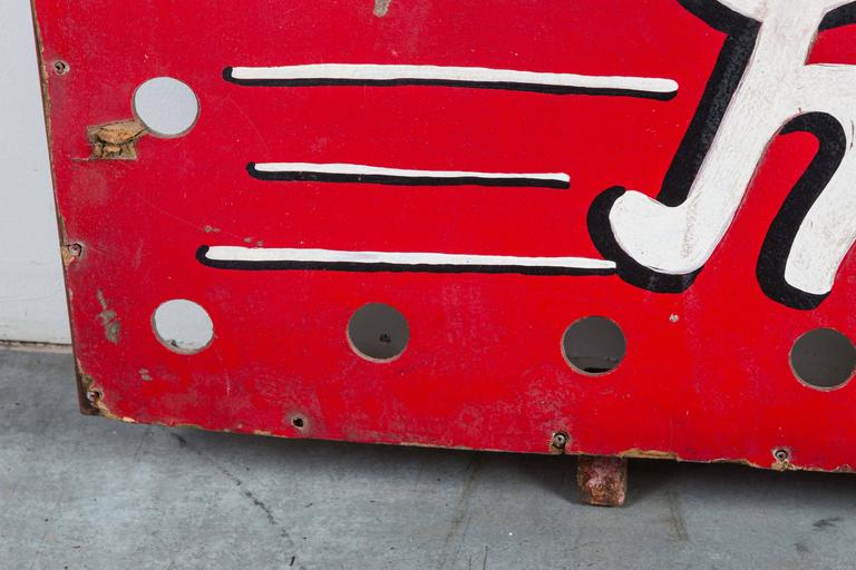 """Mid-20th Century 1940s American Carnival Midway """"Roller Racer"""" Sign For Sale"""