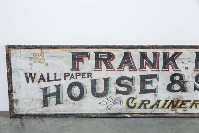 "Late 19th Century ""House & Sign Painter"" Trade Sign 2"