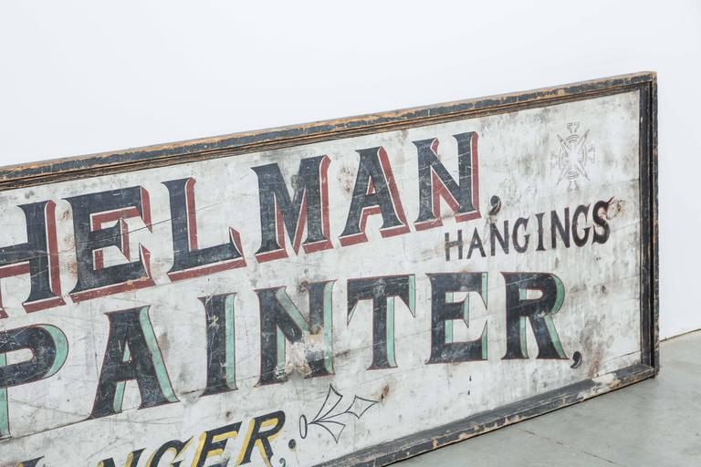 "Late 19th Century ""House & Sign Painter"" Trade Sign 3"