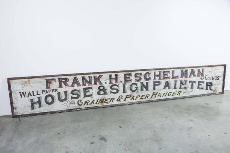 "Late 19th Century ""House & Sign Painter"" Trade Sign 4"