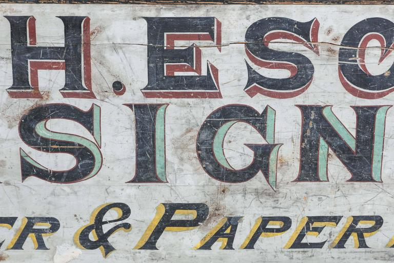"Late 19th Century ""House & Sign Painter"" Trade Sign 5"