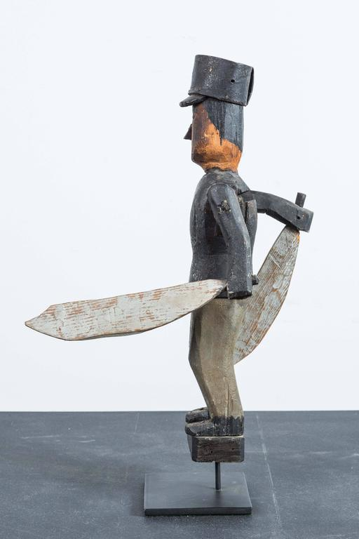 Early 20th Century Carved and Painted Wood Whirligig In Good Condition For Sale In Santa Monica, CA
