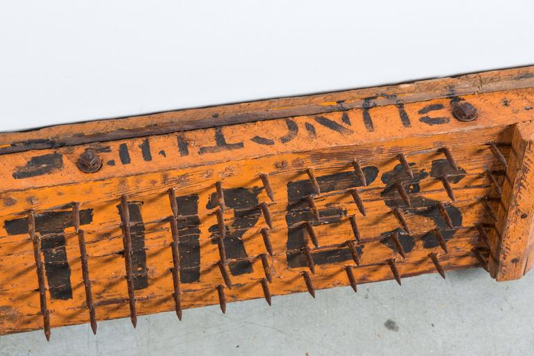 Iron Early 20th Century Lee Tires Puncture Proof Trade Sign For Sale