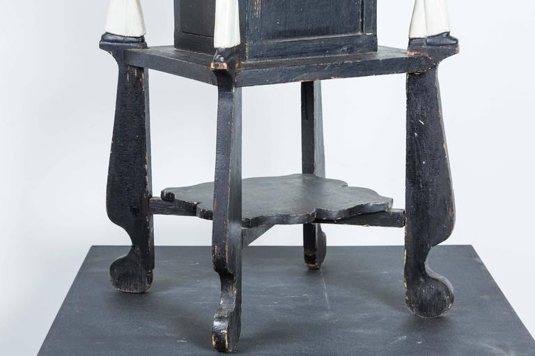 Mid-20th Century Popeye Hand-Carved Folk Art Side Table, circa 1940s For Sale