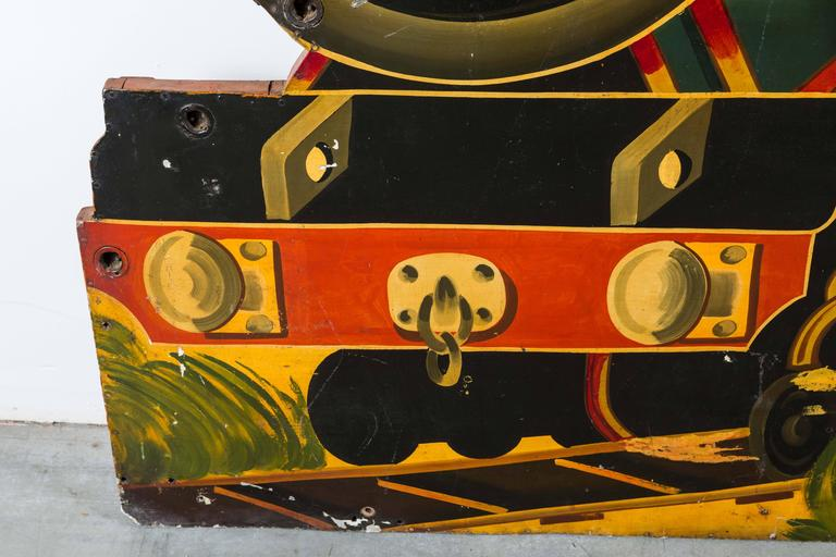 "Early 20th Century Carnival Midway ""OK4U"" Skeleton Ghost Train Rounding Board 5"