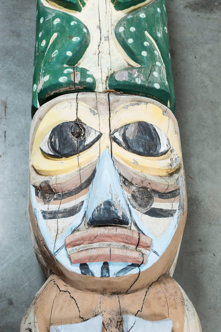 Native American Animal Mythical Creature Redwood Totem Pole 7