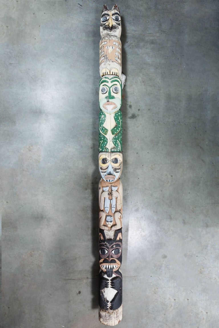 Native American Animal Mythical Creature Redwood Totem Pole 10