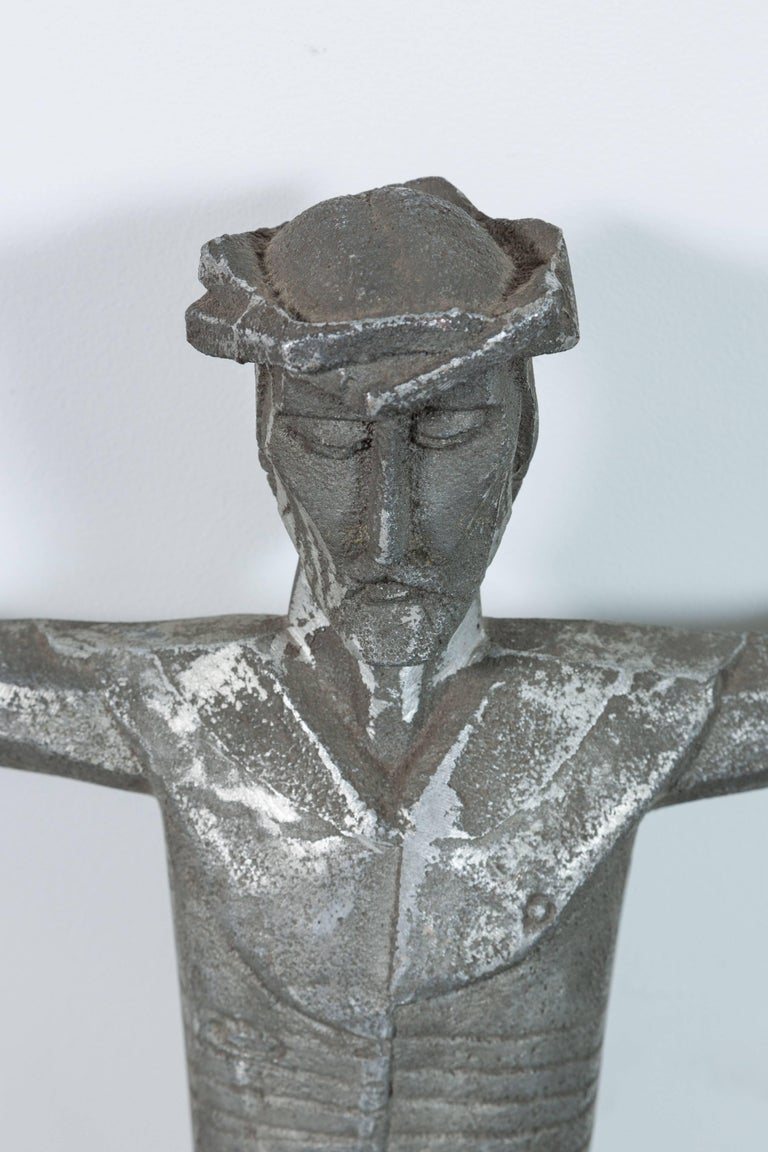 Abstract Cubist Iron American Church Crucifix In Good Condition For Sale In Santa Monica, CA