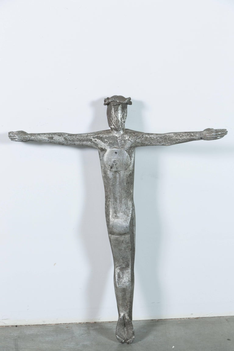 Abstract Cubist Iron American Church Crucifix For Sale 2