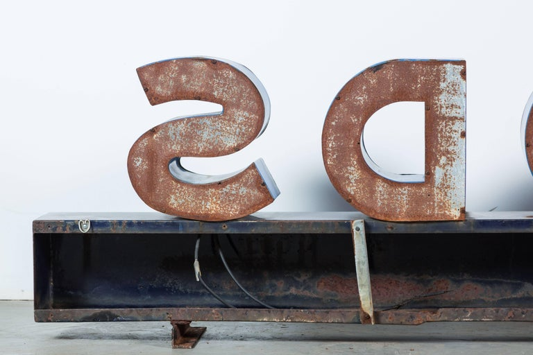 Iron Enamel General Store Neon Trade Sign For Sale 1