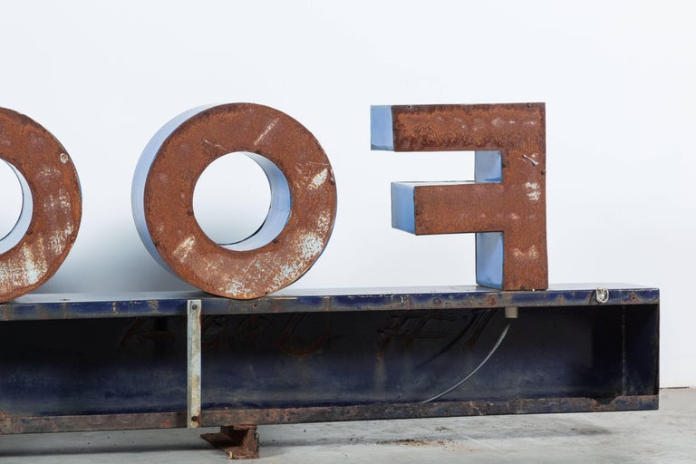Iron Enamel General Store Neon Trade Sign For Sale 2