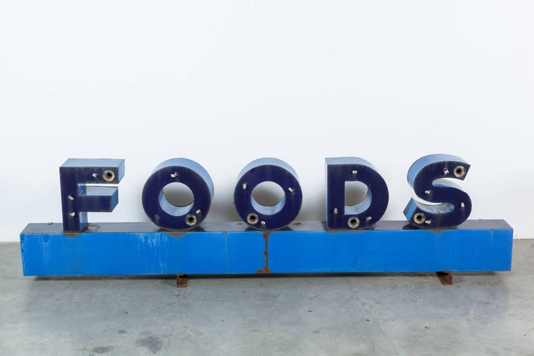 Enameled Iron Enamel General Store Neon Trade Sign For Sale