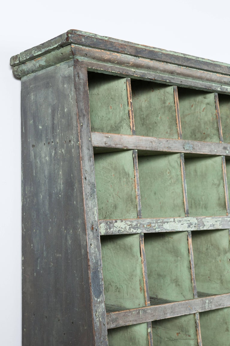Tall Apple Green General Store Cubby Vintage Hardware 5